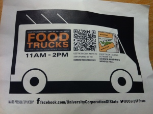 sfsu food trucks - postcard size