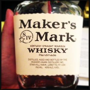 a nicely used bottle of Maker's Mark. Photo by user swanksalot on flickr via Creative Commons.