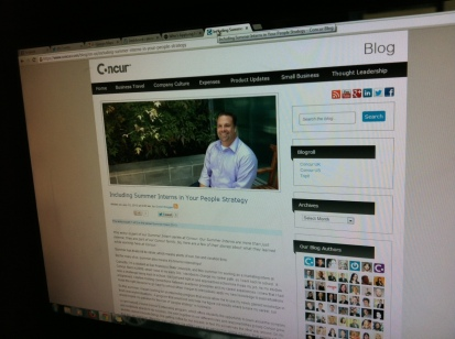A post about my internship on the Concur corporate blog.